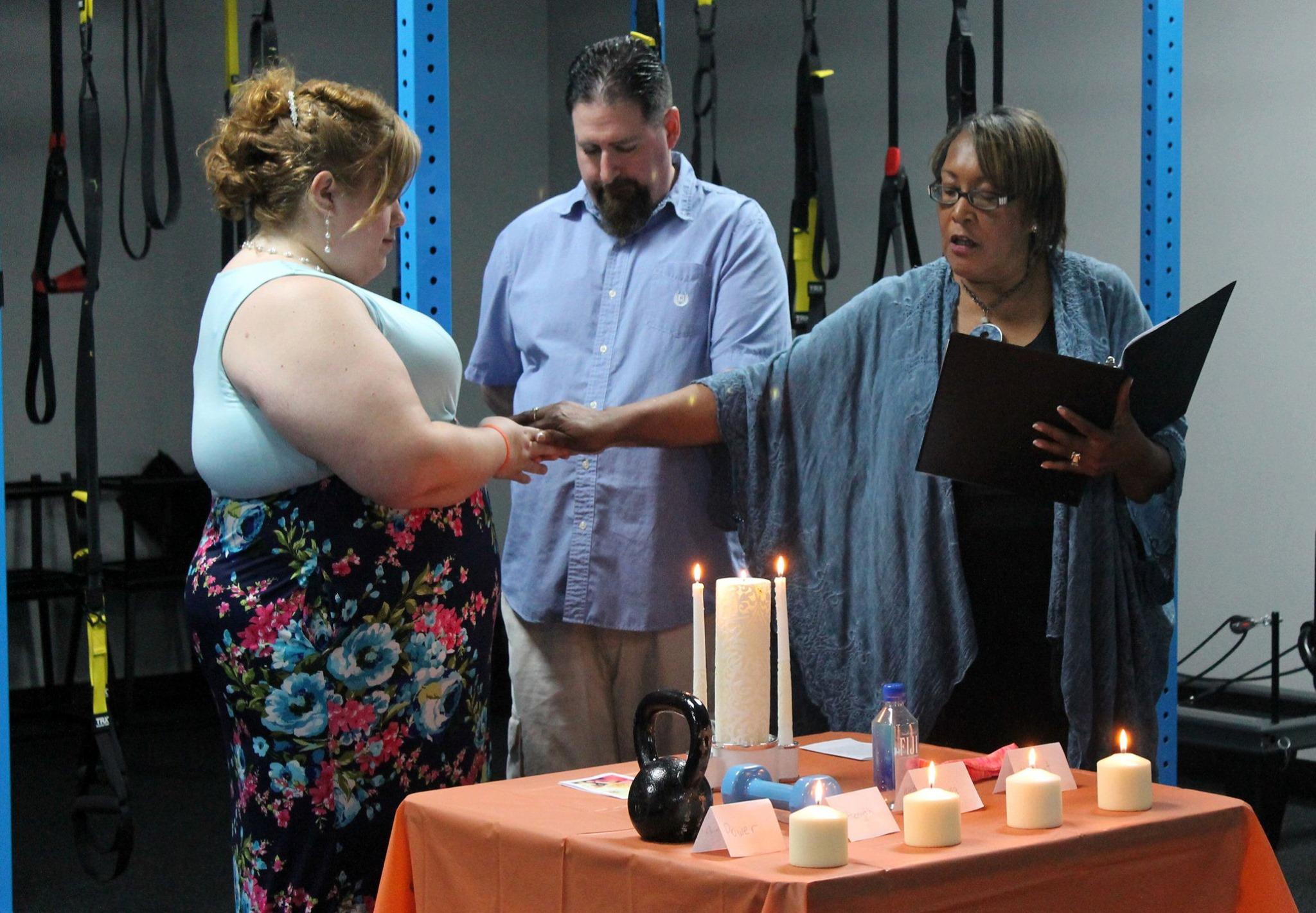 Vowel renewal with wedding celebrant
