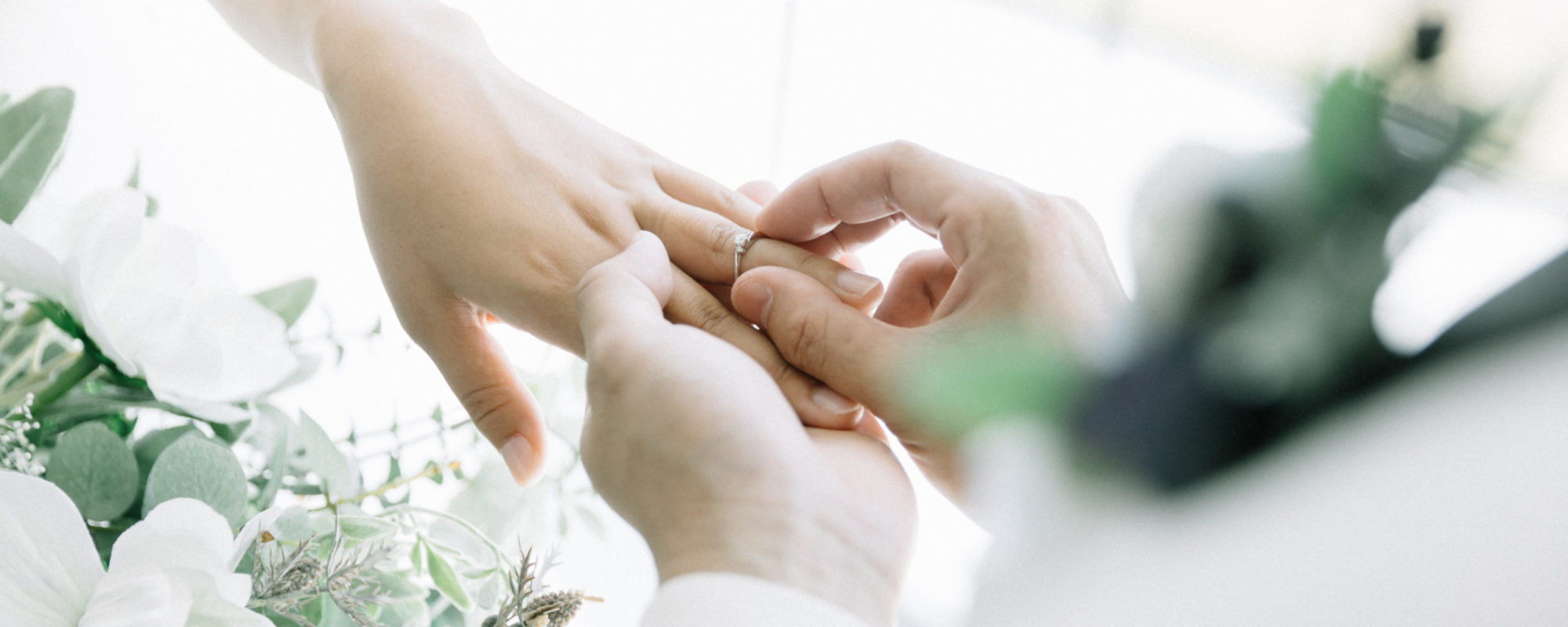 Exchanging of rings at a wedding ceremony